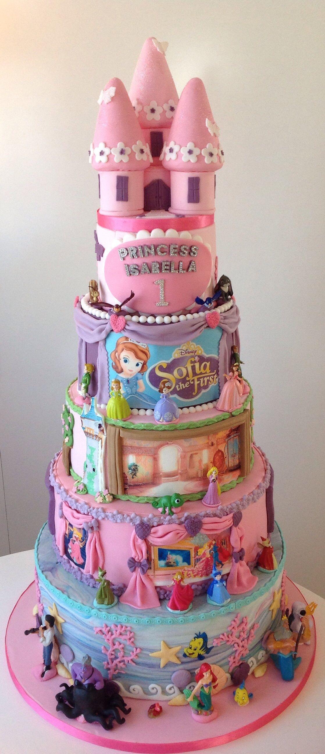 Disney Princess 1St Birthday Cake Disney birthday cakes