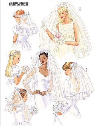 Bridal Wedding Veil Sewing Pattern Bride S Flower Girl Veils