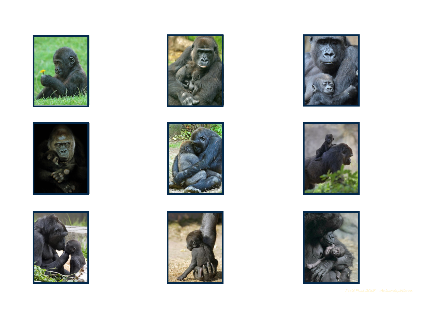 Tiles for the gorilla matching game. By Autismespektrum