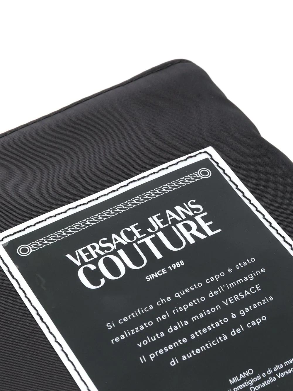Versace Jeans Couture Logo Patch Detachable Strap Clutch Bag Farfetch Versace Jeans Couture Patch Logo Versace Jeans