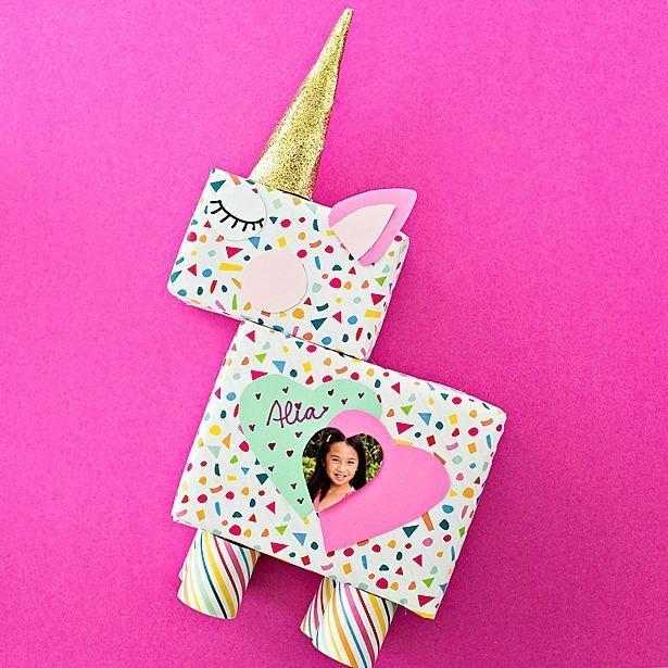 diy unicorn valentine card box  valentine card box
