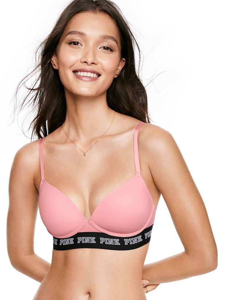 38f3d32b3da12 Online Exclusive Wear Everywhere Push-Up Wireless Bra - PINK - Victoria s  Secret