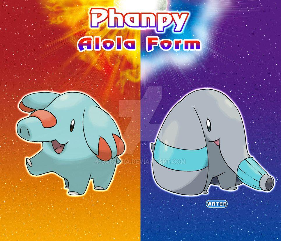 Fakemon Alola Form Phampy By Badafra On Deviantart With Images