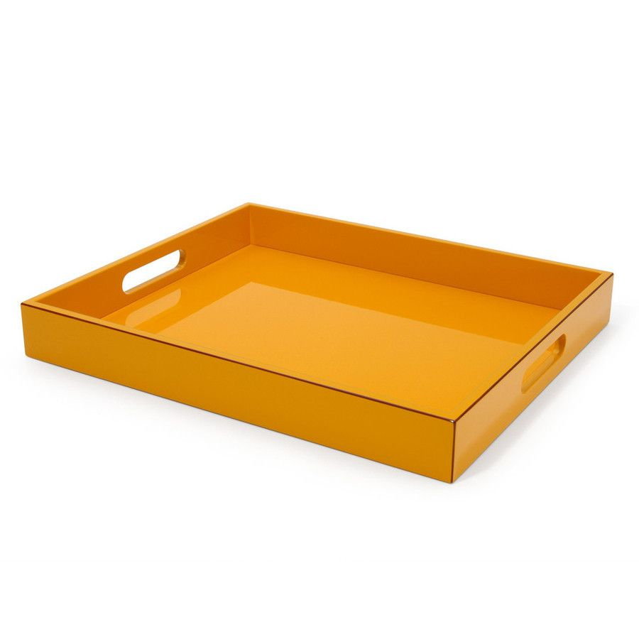Orange Lacquer Tray #color-black #entertaining-holiday #entertaining-tabletop #gift-150-under #gift-bridal #gift-for-her #home-decor-accents-decor #home-decor-kitchen-tabletop #home-decor-office #paper-desk-accessories