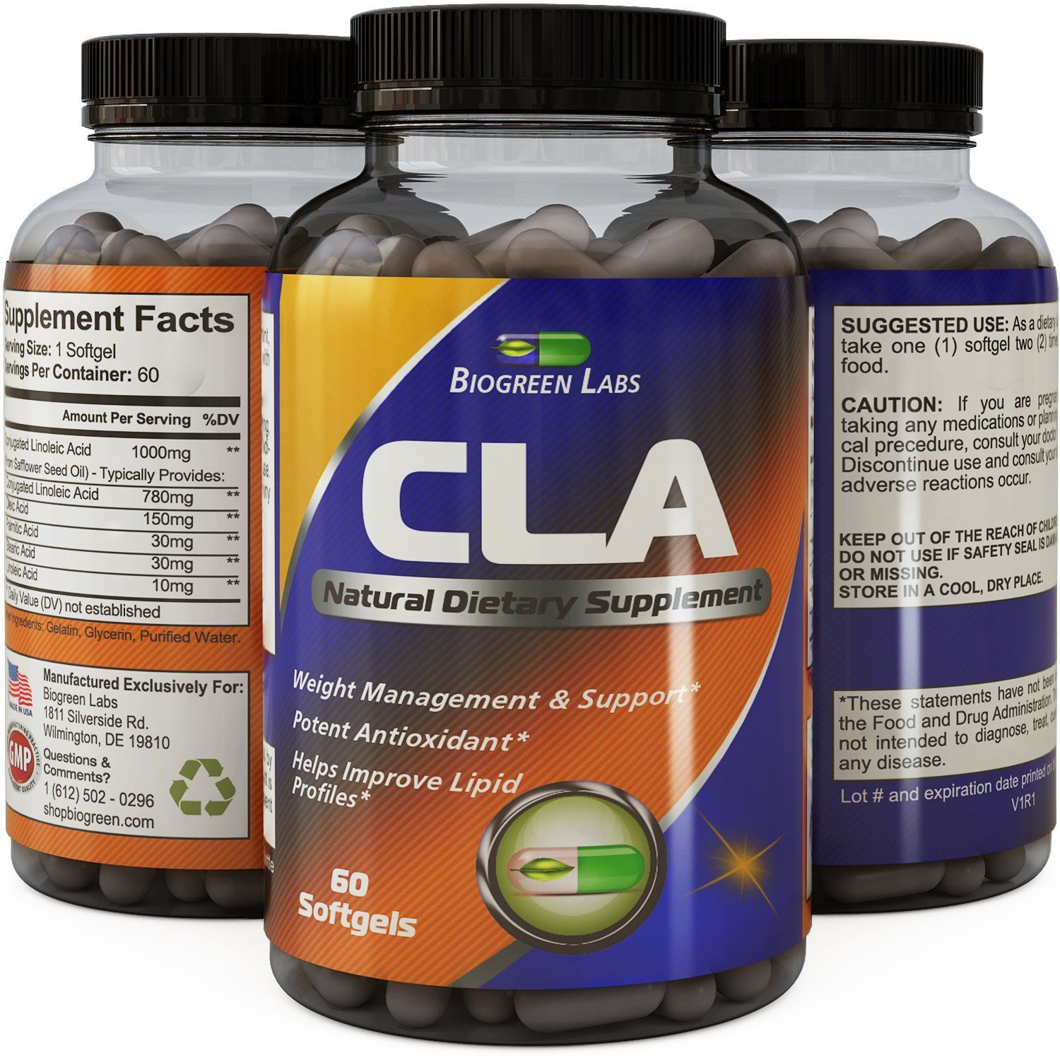 Cla Supplement Safflower Oil Extract Cla Fat Burner For Women And
