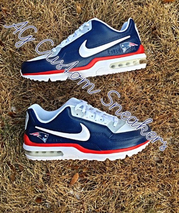 919c07b6a2a35 Custom New England Patriots Air Max Sneaker