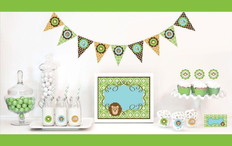 Jungle Safari Decorations Starter Kit