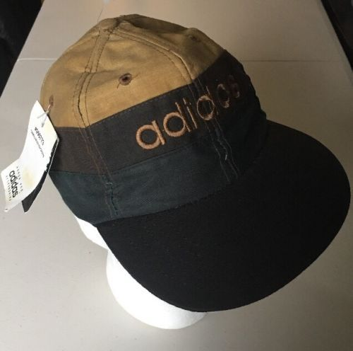 Vintage-Adidas-Hat-Snapback-Australian-Waxed-Oilskin-Hat-Rare-NWT-New-90s -80s c3ea61691b1f