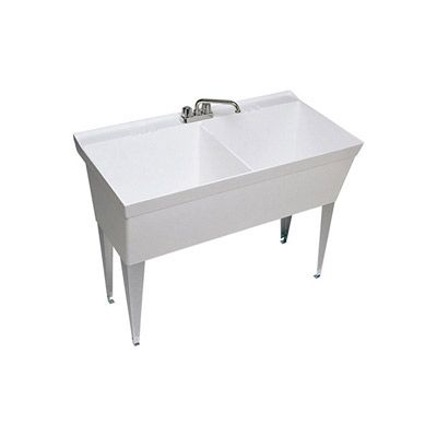 Swanstone Laundry Double Bowl Utility Sink Mf 2fwh White Laundry