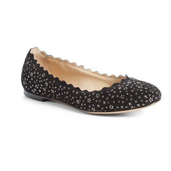 Lauren studded ballerina shoes - Black Chlo vkp16