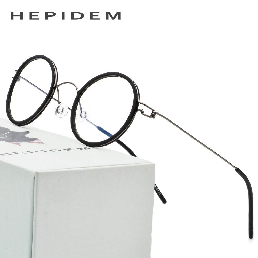 1c5f257026 Titanium Optical Glasses Frame Men Prescription Eyeglasses Ultralight Women  Round Korean Brand Designer Myopia Screwless Eyewear Review