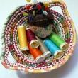 How to sew a fabric bowl- Use your fabric bowl to store notions, buttons, jewelry, or other small trinkets.