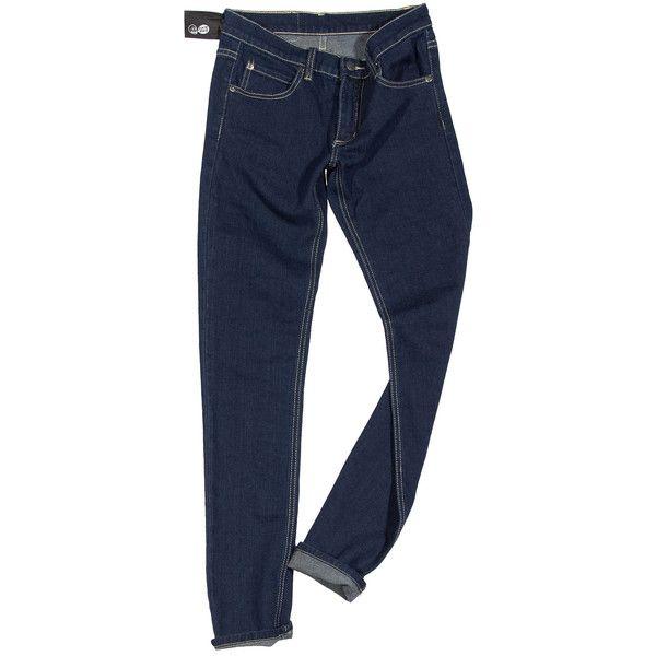 Темные джинсы с отстрочкой, Cheap Monday ❤ liked on Polyvore