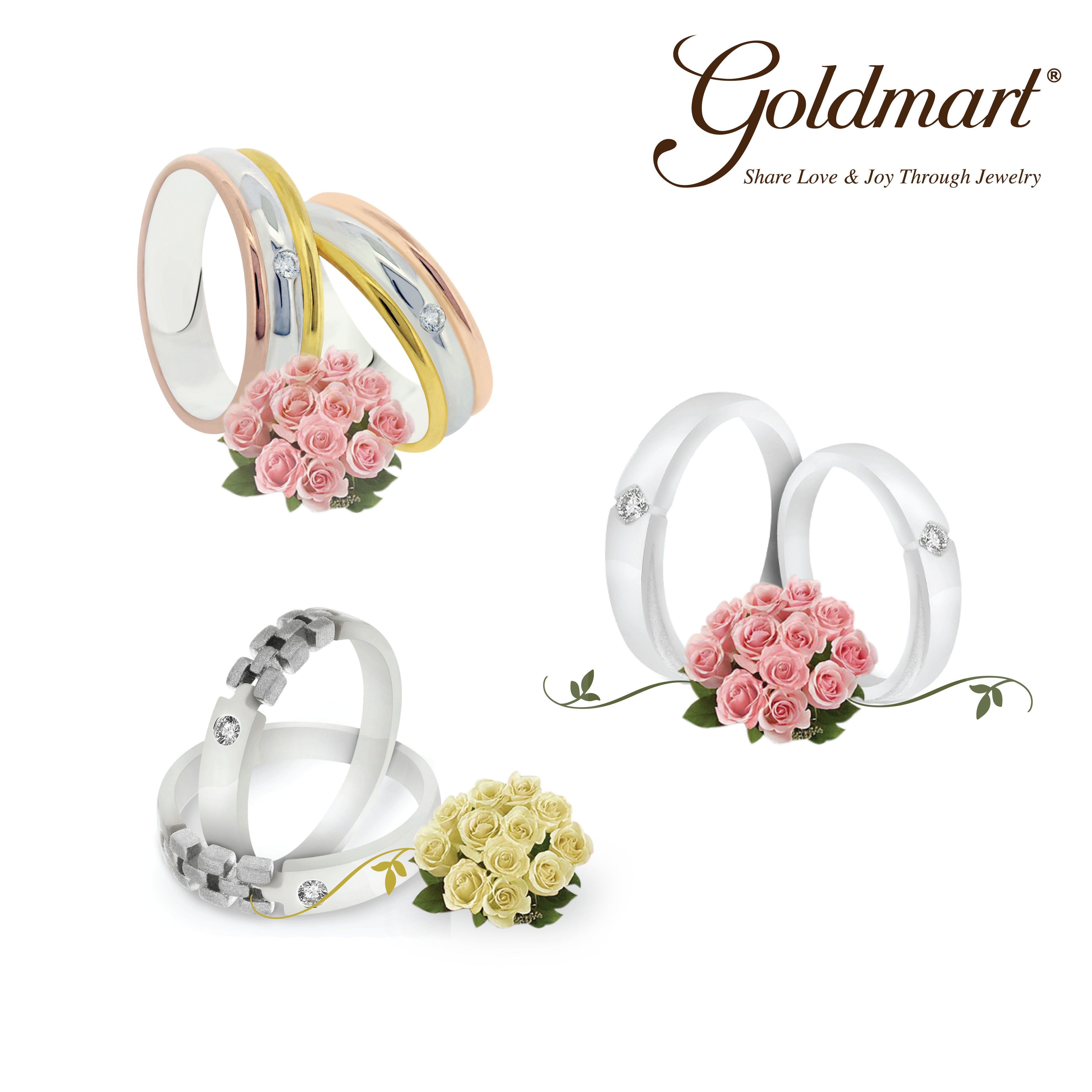 Pin by Goldmart Jewelry on Goldmart Wedding Ring Collection