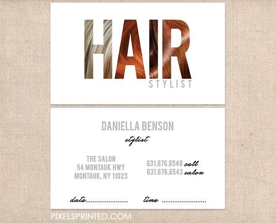 hair salon business cards, hairstylist business cards