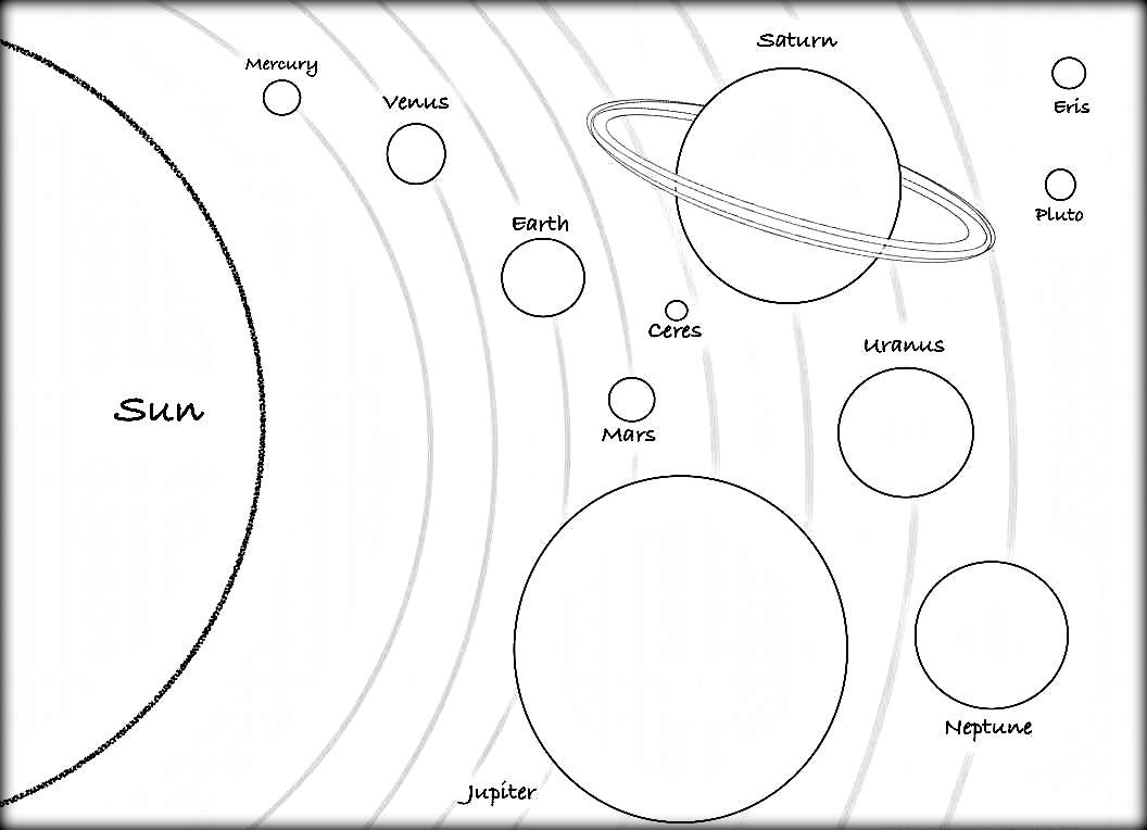 Solar System Coloring Page Solar System Coloring Pages My