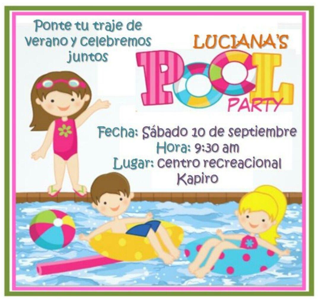 Fiesta Piscina Pool Party Invitación Tarjeta De
