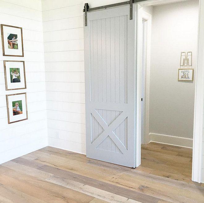 Grey Barn Door Paint Color Coventry Grey Hc 169 By Benjamin Moore Artisan Signature Homes Interio Interior Design Tips 2017 Interiors Interior Barn Doors