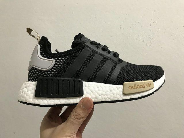 b65e74f32 Adidas NMD Popcorn Women Shoes Black-white-Brown