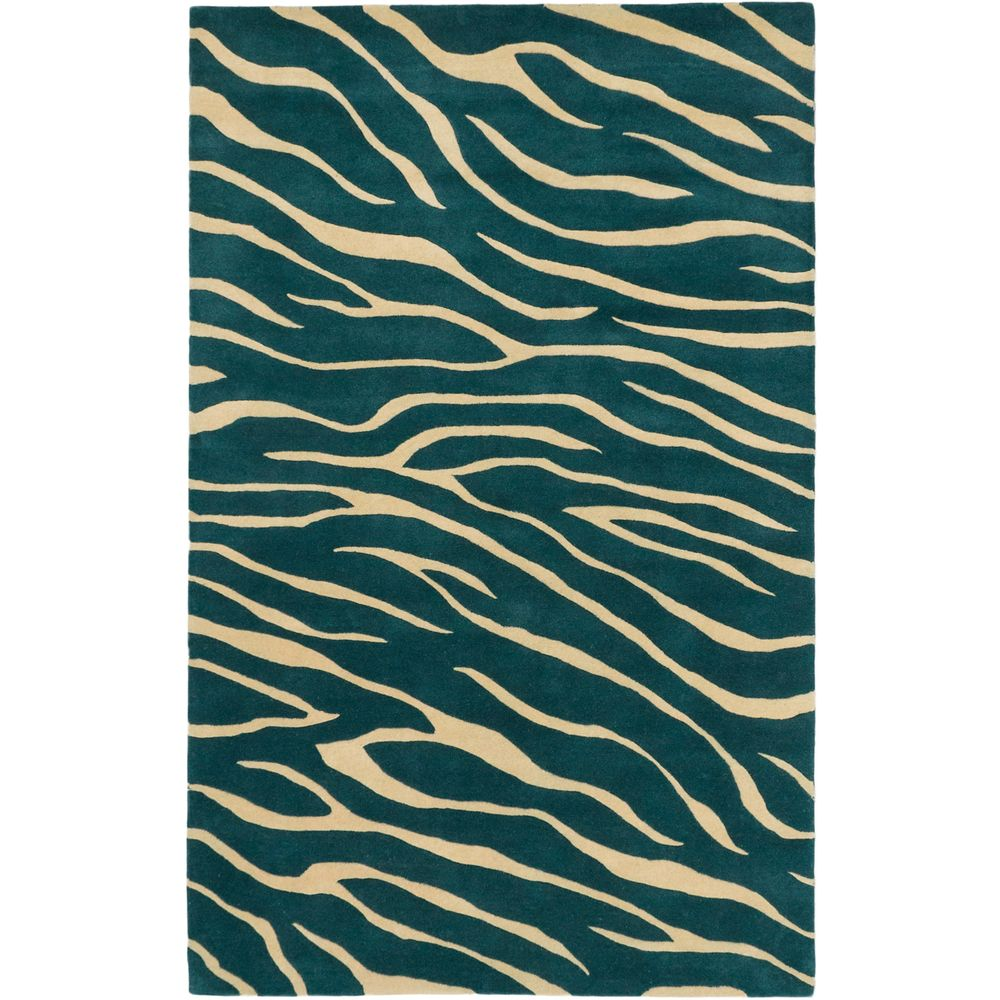 Trek Obscure Dull Teal Open Field Rug (5' x 8') - Overstock™ Shopping - Great Deals on 5x8 - 6x9 Rugs