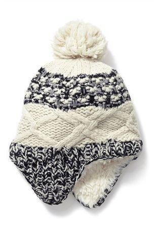 7220c776681 SIJJL Snowflake Wool Trapper Hat