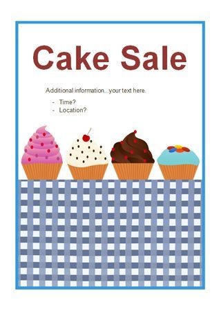 Bake Sale Flyer Template Free Alanscrapleftbehind