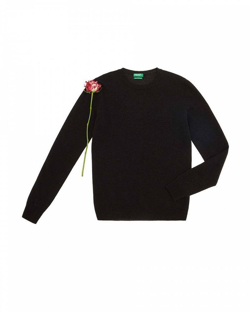 7a6d076ad57 Benetton Black Wool Jumper