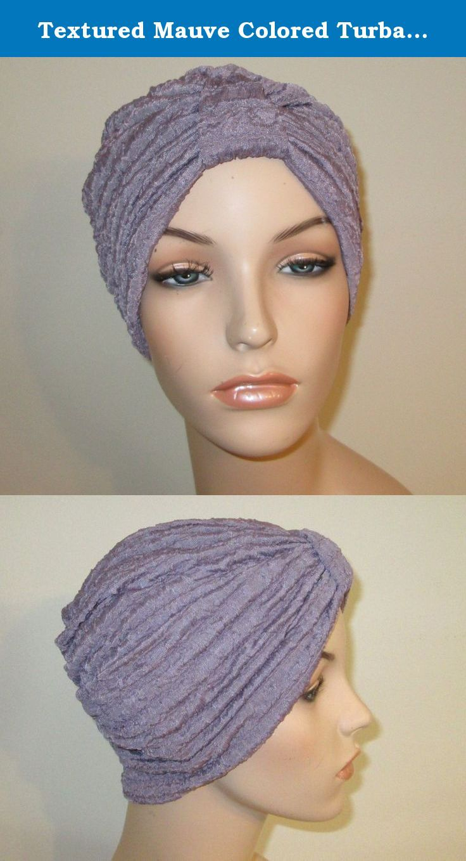 02743ecba Textured Mauve Colored Turban Trendy Hat Chemo Hat Alo… | Head ...