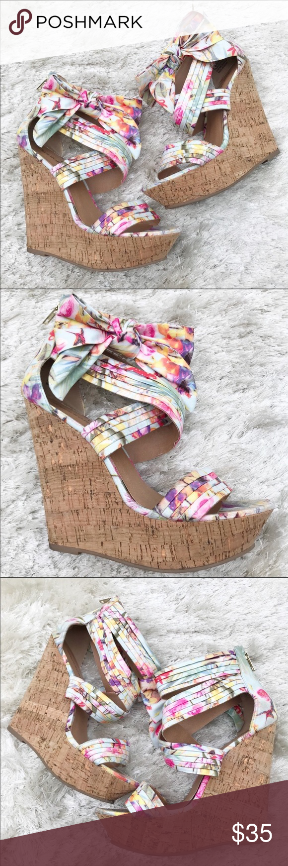 24c4fe3645d Zigisoho Sandee Floral Wedges Heighten your style with these floral wedges  from Zigi Soho. The Sandee platform sandal mixes fun and fresh trends from  a cork ...