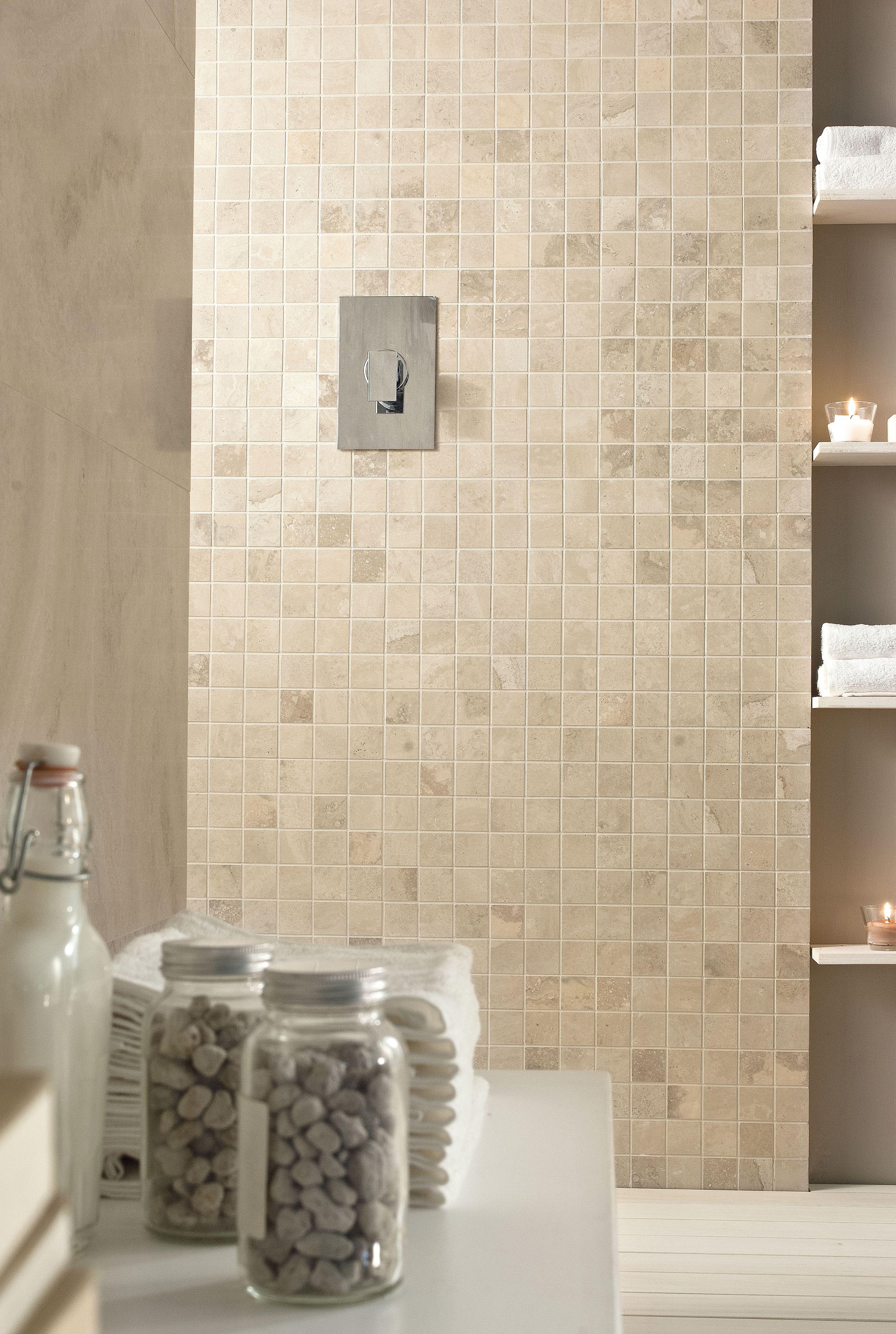 Vallelunga Caracalla Avorio & Mosaic | Travertine Look Tile ...