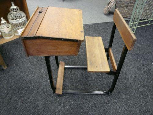 Antique Sears & Roebuck 20th century Cast Iron Student School Desk ...