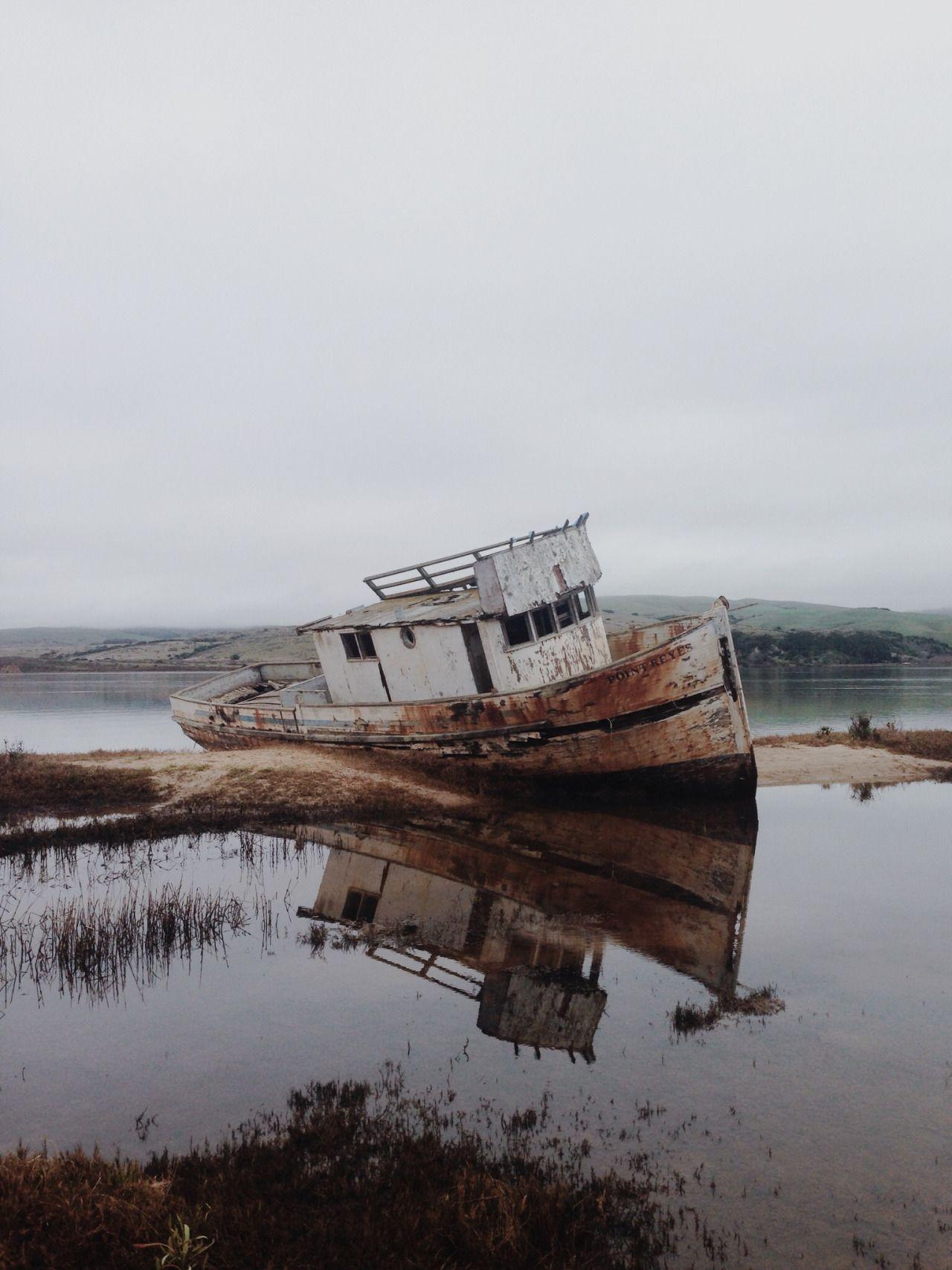 bateau, stranded and abandoned #overgrownaesthetic