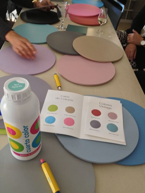 Muestrario de colores de pintura de pizarra www.cuartocolor.es ...