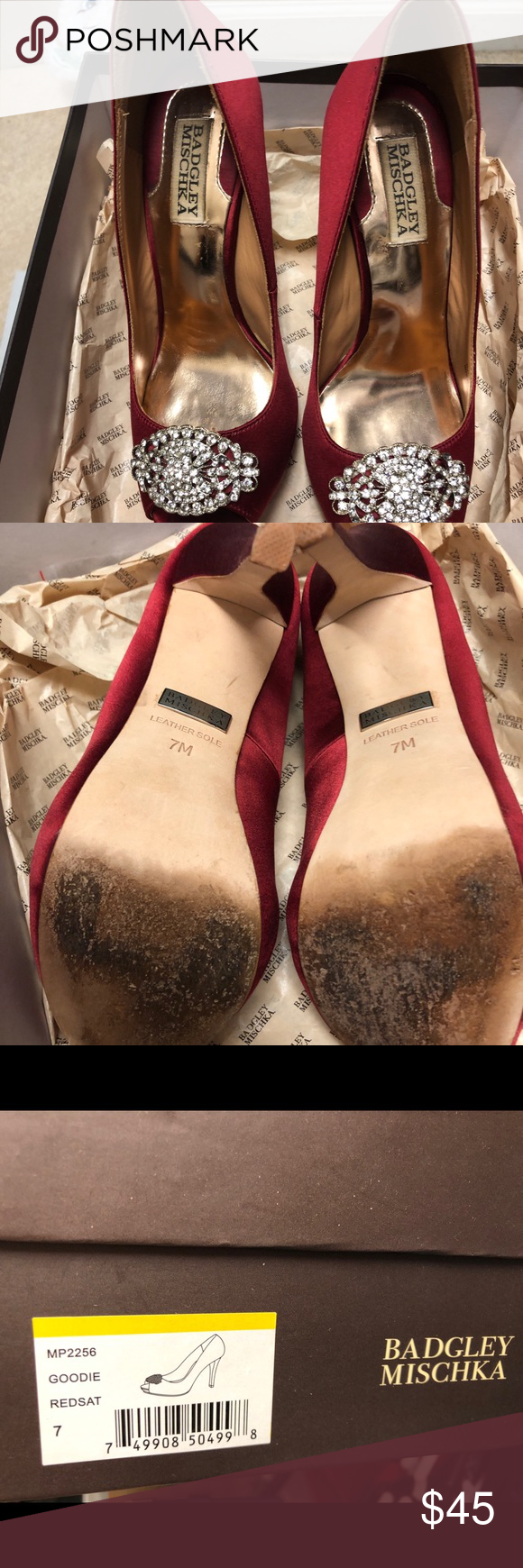 Badgley Mischka wedding shoes Size 7 Badgley Mischka shoes. Worn once for a few ...