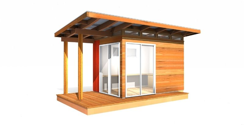 This Pref Fab Modern Shed Kit Is A Perfect Tool Shed, Storage Shed · Backyard  OfficeModern ...
