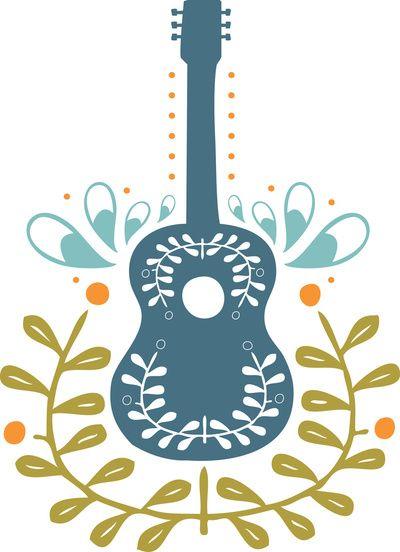 Fancy folk guitar