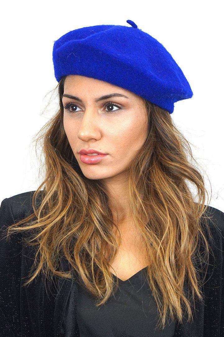 Amelie Wool Beret - Blue  8599d37fd3b9