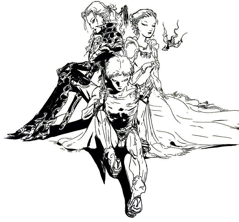 Final Fantasy V - Group Artwork - Yoshitaka Amano