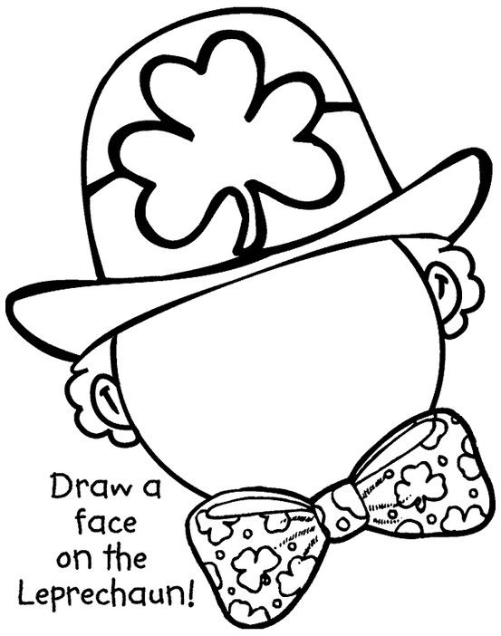 Cute St. Patrick\'s Day coloring page. | St. Patrick\'s Day Projects ...
