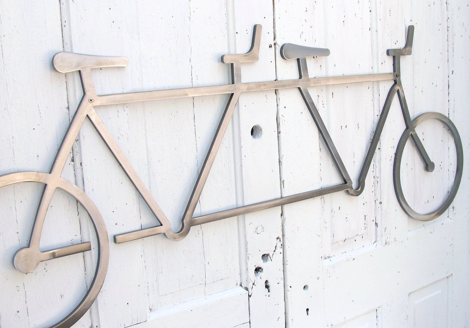 Gentil Metal Wall Art Bike Tandem Bicycle Sculpture Bike Bicycle Art Modern  Industrial Home Office Decor Wedding