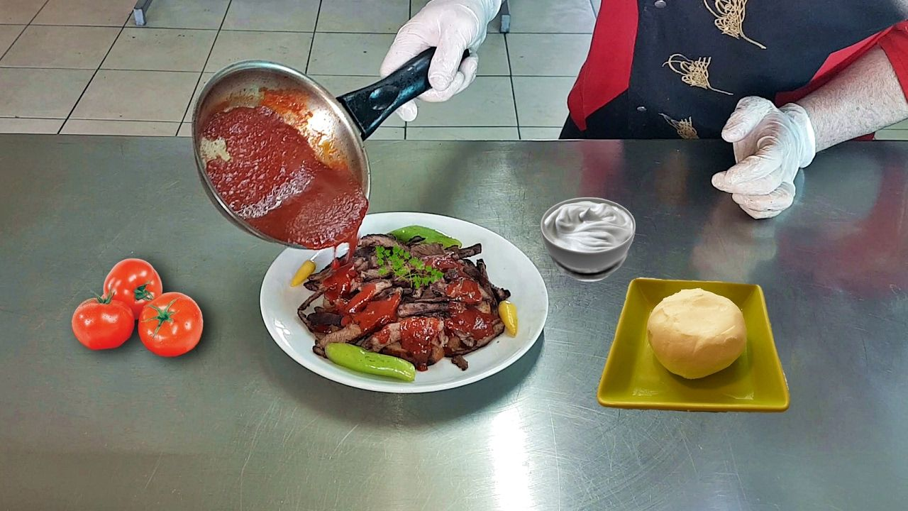 Meat doner iskender kebab home made recipe youtube middle east food forumfinder Image collections