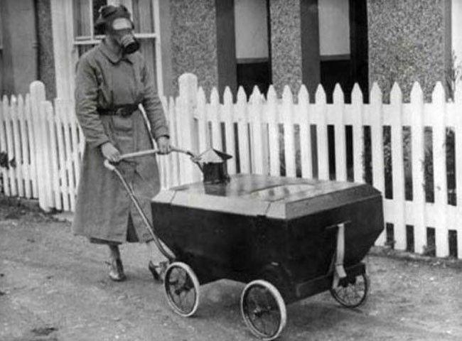 A stroller safe for gas attacks