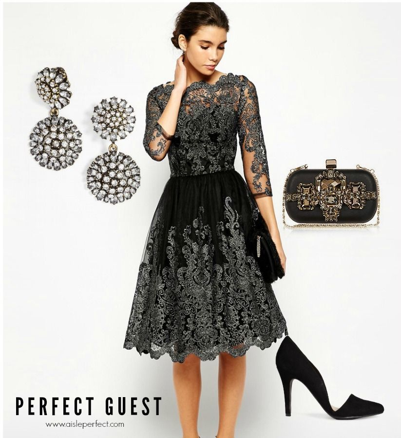 Metallic Lace Outfit For The Perfect Wedding Guest