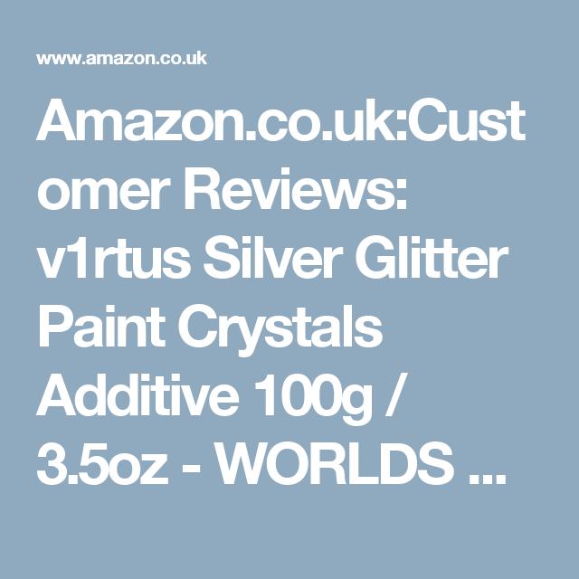 Amazon Co Uk Customer Reviews V1rtus Silver Glitter Paint