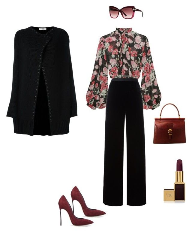 """""""Flowers in Fall"""" by moxystyle on Polyvore featuring Jill Stuart, T By Alexander Wang, Tom Ford, Casadei and Valentino"""