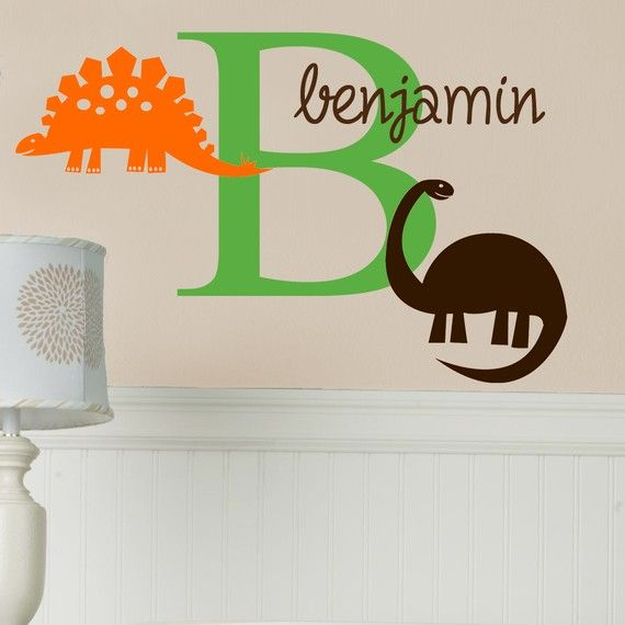 Personalized Dinosaurs Wall Decal | Wall Decals, Walls And Dinosaur .