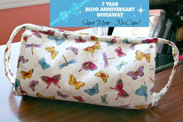 Seven years ago today I published the first post here on Super Mom - No Cape!  I'm not sure why but I've never had a blog anniversary giveaway... until now.   The number 7 seems significant somehow...