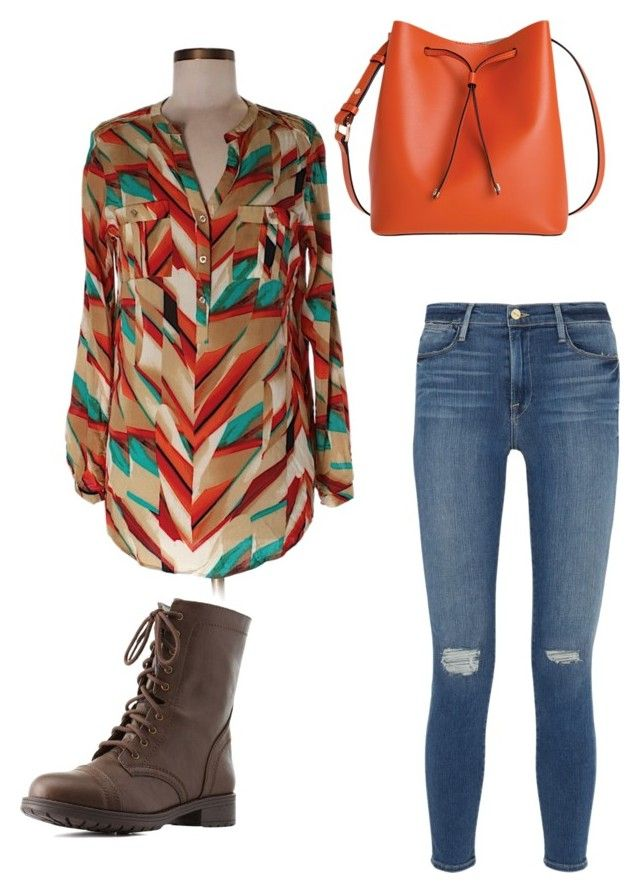 """Fall time"" by ashlyn-simpson ❤ liked on Polyvore featuring Calvin Klein, Frame Denim, Charlotte Russe and Lodis"