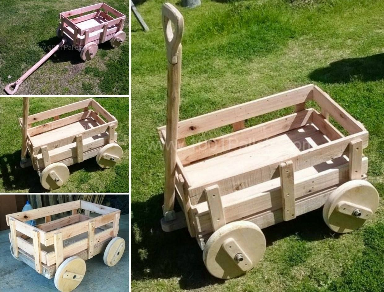 Wooden Train Garden Planter With Crates Crafts