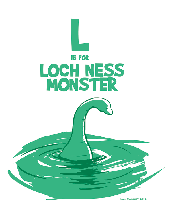 L Is For Loch Ness Monster Rich Barrett Loch Ness Monster Monster Mythical Creatures